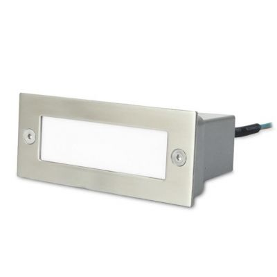 Empotrable de pared stair 12 x led 1w  pulido gris