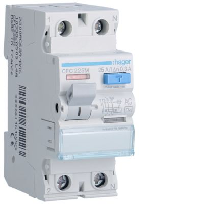 Int.diferencial 2P 25A 300mA tipo AC Acc