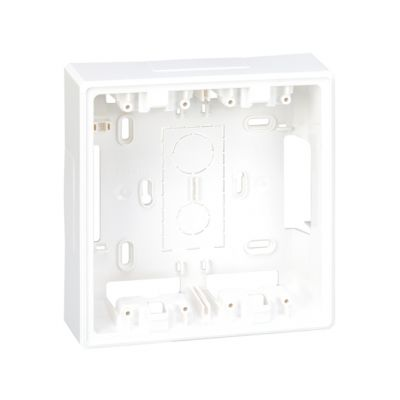 Base caja de pared de superficie para 4 elementos blanco Simon 500 Cima
