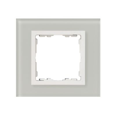 Marco para 1 elemento cristal natural interior blanco Simon 82 Nature