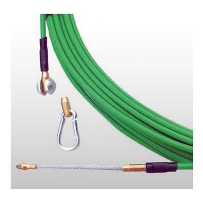 Guía pasacable semindustrial d.6mmx40m verde