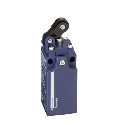 Limit switch xckn, th.plastic roller lever plung. hor, 1nc+1no, snap, m20