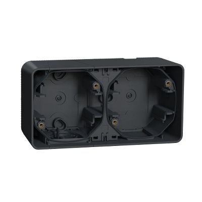 Caja doble superficie horizontal IP55 Gris