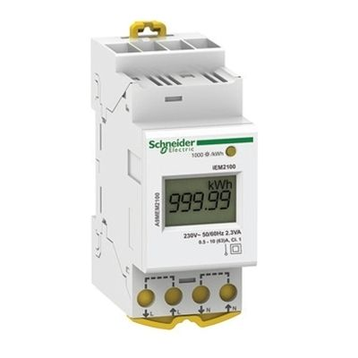 Modular single phase power meter iEM2100, 230V, 63A ((*))