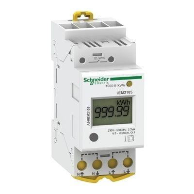 Modular single phase power meter iem2105, 230v, 63a with pulse ((*))