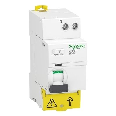 Acti9 iID40, interruptor diferencial, 1p+N, 40A, 30mA, tipo AC