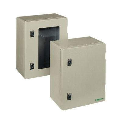 Wall-mounting enclosure polyester monobloc ip66 h308xw255xd160mm ((*))