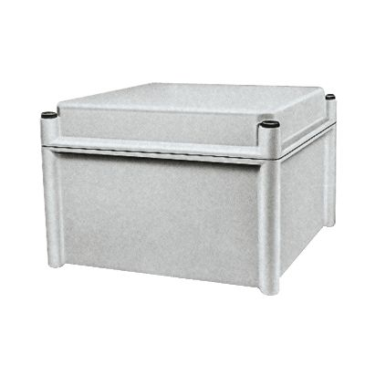 PLS box, polyester rear, polyester cover IP65 27x27x18cm ((*))