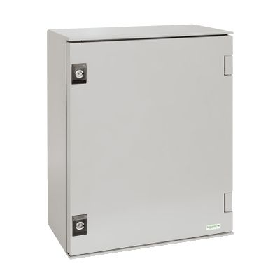 Wall-mounting enclosure polyester monobloc IP66 H530xW430xD200mm ((*))