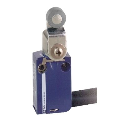 Limit switch xcmd, steel roller lever, 1nc+1no, snap, 1m