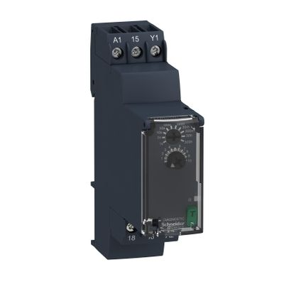 On-delay timing relay, 0,05s…300h, 24…240v ac/dc, 1c/o ((*))