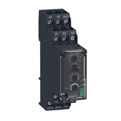 Multi-function timing relay, 0,05s…300h, 24…240v ac/dc, 2c/o ((*))
