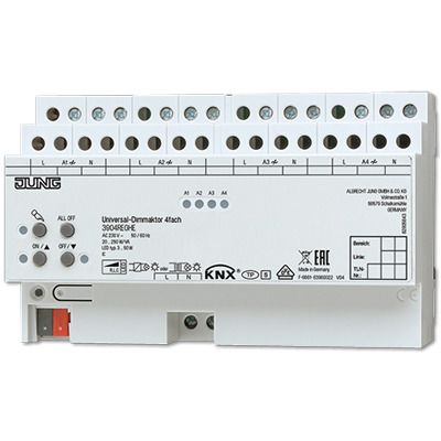 Actuador dimmer KNX LED univ. 4fases