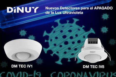 Dinuy lanza dos nuevos detectores de movimiento para el apagado de la luz ultravioleta