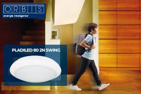 ORBIS ilumina tus estancias con su nuevo plafón con detector PLADILED 80 2N Swing