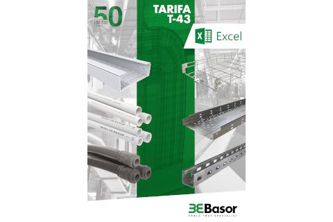 Nueva tarifa T-43 de Basor