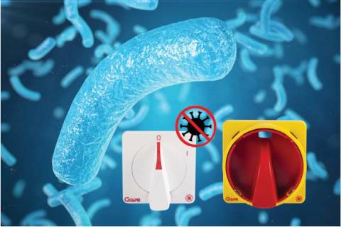 Gave lanza una gama antimicrobiana para sus interruptores y conmutadores de levas
