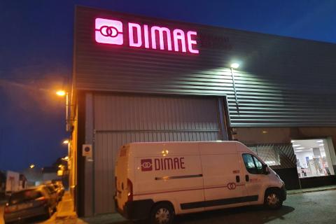 Dimae Dielectro Manchego renueva la rotulación de cinco de delegaciones