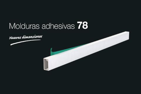 Nuevas dimensiones para la gama 78 de molduras adhesivas de Unex