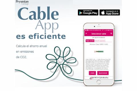 CableApp la aplicación móvil de Prysmian para el cálculo eficiente del conductor para cada instalación