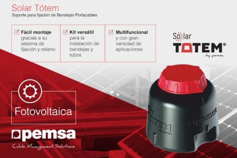 Solar Totem el nuevo sistema de montaje elevado para la conducción de cables en cubiertas solares de Pemsa