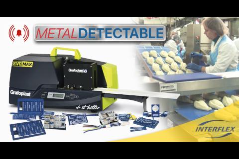 Nueva gama de marcaje detectable de GRAFOPLAST de Interflex