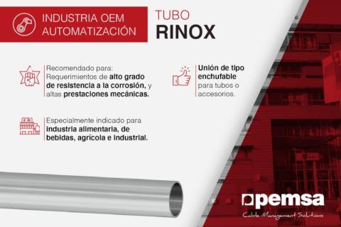 Pemsa lanza el tubo RINOX diseñado para plantas industriales del sector alimentario, bebidas y agrícola